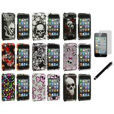 Color Skulls Design Hard Case Cover+LCD Film+Stylus for iPod Touch 4th Gen 4G 4
