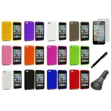 Silicone Soft Case Cover+LCD+Charger+Pen for iPod Touch 4th Generation 4G 4