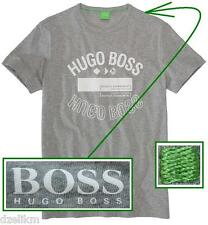 NWT Hugo Boss Green Label by Hugo Boss Tee Logo T-Shirt in Light Gray Size L
