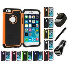 For Apple iPhone 6 (4.7) Hybrid Shockproof Rugged Hard Case Cover Charger+Stylus