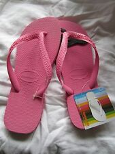 GENUINE BRAND NEW UNISEX HAVIANAS ROSA PINK, MANY SIZES