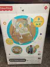 NEW FISHER PRICE BABY 3 IN 1 SWING 'N ROCKER INFANT TODDLER SEAT ROCKER CHAIR