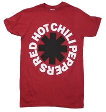 Red Hot Chili Peppers RHCP Asterisk Logo Rock Music Band Men's Red T-Shirt