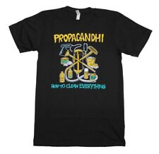 Propagandhi How to Clean Everything Punk Rock Music Band Men's Black T-Shirt