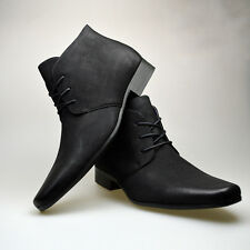 Mens Black Brown Leather Casual Smart Formal Chelsea Boots Shoes Ankle Zip Size