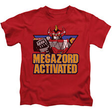POWER RANGERS MEGAZORD ACTIVATED Toddler Kids Graphic Tee Shirt 2T 3T 4T 4 5-6 7