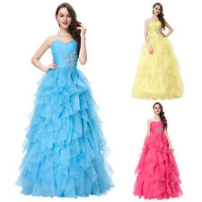 Long Organza Quinceanera Party Pageant Evening Dress Ball Gown Wedding Dresses