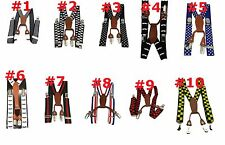 Choose (1) Toddler 3T - 6 Years Elastic Suspenders ~ Ships From The USA