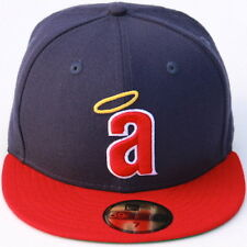 MLB LA Angels of Anaheim Cooperstown a Logo New Era 59Fifty Fitted Hat-Navy/Red