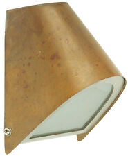 Halogen Wall Light Exterior GU10 35W in Copper or Stainless Steel 14cm Brava