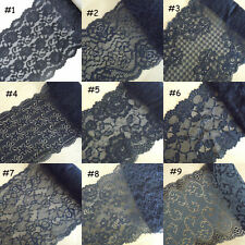 9 Pattern Black Stretch Floral Lace For Lingerie,Headband,Gloves,Lace Bow zhd6