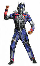Transformers Optimus Prime 4 Boys Muscle Costume