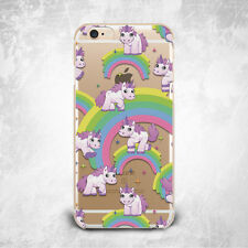 Funny Unicorn Rainbow Silicone TPU Rubber Clear Case Cover Skin for iPhone