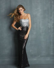 2016 New Long Sweetheart Lace Sequins Party Formal Ball Gown Bridal Prom Dress