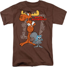 ROCKY & BULLWINKLE BEST CHUMS Licensed Men's Graphic Tee Shirt SM-3XL