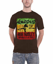 Bob Marley Movement Exodus 1977 Distressed Official Mens New Brown T Shirt