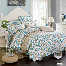 Single/Double/Queen/King Size Bed  Cotton Comforter/Duvet Cover Set Pillowcases
