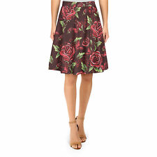 Red Rose With Thorns A-Line Skirt Sizes XS-3XL Flared Skirt