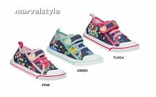 GIRLS CANVAS SHOES TRAINERS SNEAKERS SUMMER SHOES UK size 7.5-12/EU 25-30 COOL!