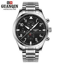 GUANQIN Luxury Men Automatic Mechanical Waterproof Day Sport Military Watch L6S7