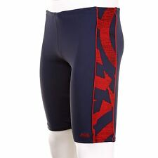 Zoggs Swimming Jammer Shorts Trunks Mens Navy/Red-