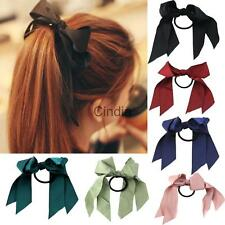Girl Women Sweet Ponytail Holder Elastic Satin Ribbon Accessories Hair Band