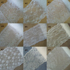 9 Pattern Ivory Stretch Floral Lace For Lingerie,Headband,Gloves,Lace Bow zhd13