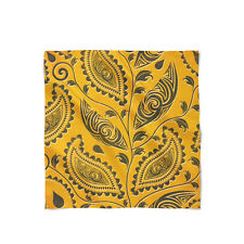 African Tribal Leaves Satin Style Scarf - Bandana in 3 sizes
