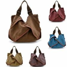Womens Ladies Large Designer Retro Canvas Travel Tote Shoulder Bag Handbag