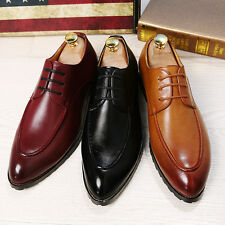 British Mens Wedding Shoes Lace Up Pointed Leather Formal Office Work Dress Z107