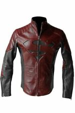 SUPERMAN MAN OF STEEL & SMALLVILLE BLACK AND RED LEATHER SHIELD JACKET