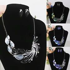 Fashion Women Jewelry Set Peacock Pendant and Earring Party Jewelry