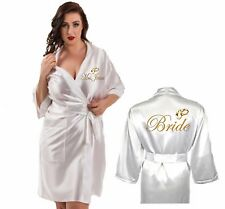 Personalised Wedding Ring Satin Wedding Robe / Long length