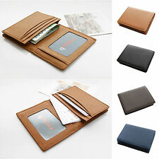 Men Business Card Wallet  Genuine Leather Name Card ID Case Credit Card Holder