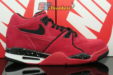 NIKE AIR FLIGHT 89 GYM RED BLACK WHITE SUEDE 306252-600 NEW SIZE 9