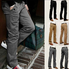 Stylish Mens Slim Fit Skinny Straight Pants Casual Formal Slacks Trousers New
