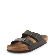 Mens Birkenstock Arizona Flat Footbed Slip On Casual Black Sandals Shoes Size