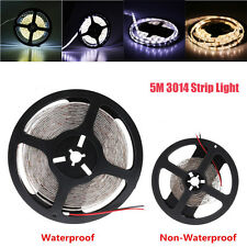 Non/Waterproof Warm/Cool White DC12V 5M 3014 SMD 600/300 LED Strip Light Tape