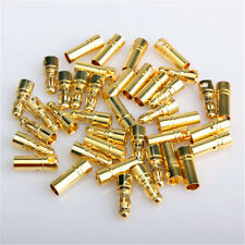 100pairs Gold Plated Bullet Banana Plug Connector for RC Battery 2.0 ~ 6.0mm