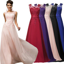 Plus Size Women Long Chiffon Evening Formal Party Cocktail Bridesmaid Prom Dress