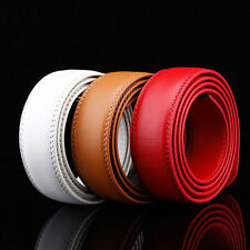 Fashion Men's Genuine Leather Automatic Strap Belt Without Buckle Waist Strap