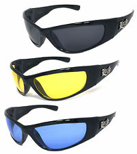 Locs Authentic Gangster Biker Motorcycle OG Style Wrap Around Sunglasses LC53