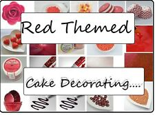 RED Themed Cake Decorating Sugar Balls Sprinkles Paints Pens Cupcake Cases
