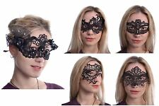 Poizen Industries Rose Lace Mask Ladies Black Goth Emo Punk Cosplay