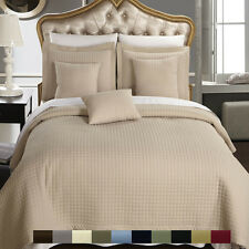 Quilted Checkered Coverlet/Bedspread Set, Luxury 100% Microfiber Wrinkle-Free
