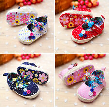 Lovely Girl Baby Polka Dot Flower Crib Shoes Infant Soft Sole Toddler Shoes