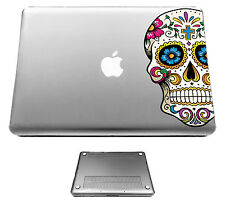 C858 Mexican Sugar Skull Floral Case Cover For Macbook pro 13'' 15'/ Air 11 13''