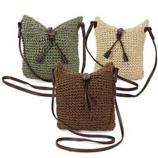 WOMENS WEAVE WOVEN STRAW VINTAGE Large HOBO CROSSBODY MESSENGER SHOULDER BAG
