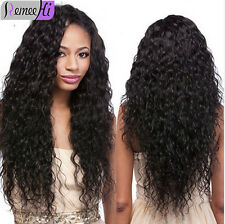 """Hot! Loose Curly 100% Indian Remy Human Hair Lace Front /Full Lace Wig 12""""-22"""""""