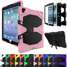 Hybrid Rugged Shockproof Heavy Duty Protective Stand Case Cover For iPad 2 3 4